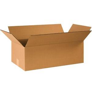 "BOX USA B24128R Corrugated Boxes, 24""L x 12""W x 8""H, Kraft (Pack of 25)"