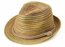 Straw Hat Unisex Solid Braid Hats Fashion Trilby Hat Summer Beach Panama Hat