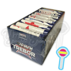 Trebor Extra Strong Spearmint 40 x 41.3g Rolls Mints   OUT OF DATE