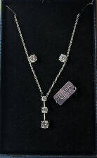 STERLING SILVER CZ NECKLACE AND EARRING SET IN GIFT BOX