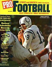 1965 Street & Smith's Pro Football Yearbook, John Unitas Baltimore Colts ~ Fair