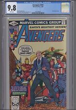 """Avengers #201  CGC 9.8 1980 Marvel Comic  Cover & Story : """"Jarvis"""" NEW CGC FRAME"""