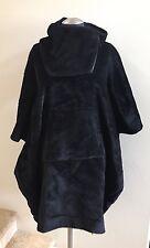 New w/Tags ZERO + MARIA CORNEJO Black Pei Hooded Wool Poncho Coat Size S/M