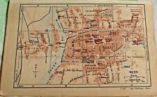 1930 the guide of the old town Sens Department 89 old map art print