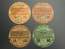 FOUR GENUINE USED VINTAGE TAX DISCS FOR SAME LAND ROVER DATED 1959 & 1960 VGC