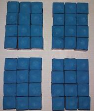 SKY BLUE MASTER CUE CHALK - 4 doz./48pcs