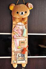 Cartoon Cute Relax Bear Rilakkuma SanX Wall Hanging Storage Bag 3 Pockets