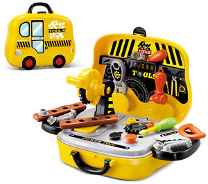 Kids 27pc Kids Deluxe Construction Tool Box Set Play Toy DIY Creative Role Play