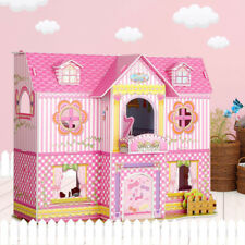 Kids Doll House With Furniture Staircase For Barbie Princess Castle Dollhouse