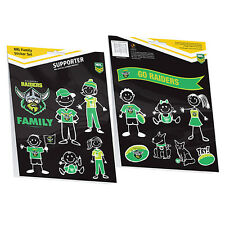 Licensed NRL Canberra Raiders FAMILY Car Sticker Sheet 14 images Birthday Gift