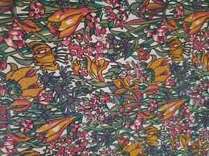 Vintage Remploy Summer Chintz Wall Covering Fabric Wallpaper  - 20m x 137cm