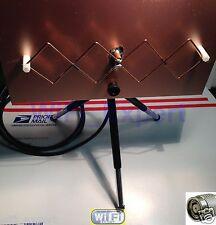 WiFi Antenna MACH1 Double Biquad RPTNC Linksys WRT54G WRT54GL DD-WRT Tomato Pair