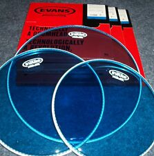 Evans BLUE Hydraulic Drum Head PACK -12-13-16 - LEVEL 360