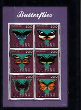 Guyana 2013 neuf sans charnière papillons ii 6v m/s battus Dismorphia Lyropteryx insectes
