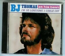 "B.J. THOMAS, CD ""AT HIS BEST, I'M SO LONESOME I COULD CRY"" NEW SEALED"