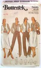 1980 Butterick #5880 Sewing Pattern Misses' Shirt Vest Skirt Pants Size 12