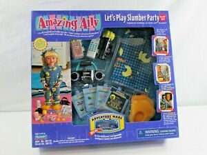 Playmates Amazing Ally Let's Play Slumber Party Play Set Adventure Ware NEW