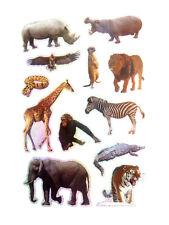 Zoo Tier Wildleben Sticker Kinder Etiketten für Basteln und Dekoration LS42