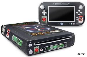 Skin Decal Wrap for Nintendo Wii U Gaming Console & Controller Sticker FLX