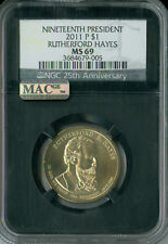 2011-P RUTHERFORD HAYES PRES. DOLLAR NGC MAC MS 69 PQ FINEST BUSINESS POP-4