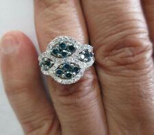 EFFY 14K Gold White & Blue Diamond Ring TCW=2.50 Carats D-SI1 Value=$8,750