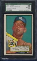 1952 TOPPS NO. 311 MICKEY MANTLE ROOKIE SGC 4.5 VGEX PLUS WELL CENTERED