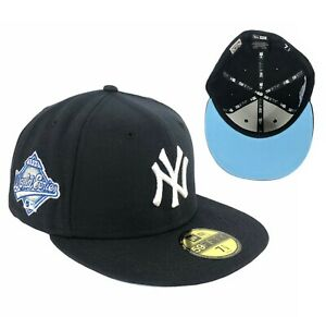 Yankees Navy Blue 1996 World Series Side Patch New Era Fitted Hat Cap ICY UV
