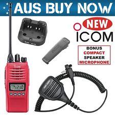 RED ICOM IC-41PRO UHF CB TWO WAY RADIO PORTABLE HANDHELD HAND HELD IC 41 PRO CAR