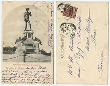 36765 - Michelangelo: David - Florenz - Firenze - AK, gelaufen nach Paris