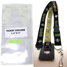 NFL New Orleans Saints Twotone Lanyard with Ticket Holder