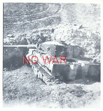WWII ORIGINAL GERMAN WAR PHOTO PANZER / TANK IN ACTION