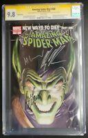 Amazing Spider-Man #568 Marvel Comics CGC 9.8 SS Waid/Granov/Ross Signed Variant