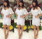 New WHITE LACE DRESS Women Club Party Shop Online S M L