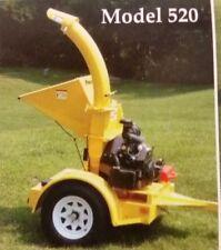 6 Wood Chipper 24hp Honda Powertek 520 Bandit Brush Vermeer Altec Shredder