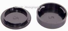 Leica-R Rear Lens Cap + Leica R Body Cap for Summicron-R APO-Telyt-R Elmarit-R