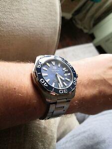TAG HEUER Aquaracer Calibre 5 43mm Ceramic Bezel Men's Watch RRP £2300