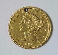 1861 P U.S. $5 Liberty Head Half Eagle GOLD Coin Piece Civil War Era