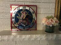 Vintage ANHEUSER BUSCH BUDWEISER EAGLE MIRROR CLOCK Back BAR BEER SIGN