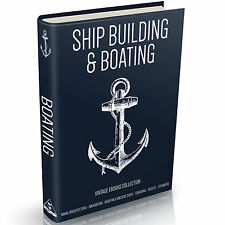 Ship Building Books on DVD Boating Sailing Navigation Canoe Naval Yacht Repairs