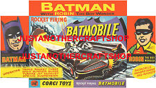 Corgi Toys 267 Batmobile Batman Large Size Poster Advert Leaflet Shop Sign