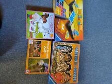 Spielesammlung brettspiele 4 Stück,Labyrinth,Bits,Memorie, Puzzel