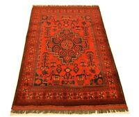 """3'3"""" x 4'11"""" ft. Afghan Tribal Khal Mohammadi Area Hand Knotted 100% Wool Rug"""