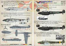 Imprimir escala 1/48 Messerschmitt Bf 110 C, Bf 110G-2, Bf 110G-4 parte 1 # 48105