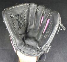 "Easton 12.5"" Fastpitch Softball Glove EFP125 - Black & Pink - Right Hand Throw"