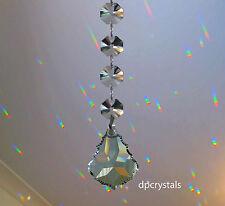 Suncatcher Prisma Arcobaleno Feng Shui Cristallo da appendere con 4 SWAROVSKI OTTAGONI
