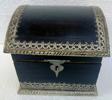 20 X 20 X 18 Cm Wooden Box Vintage Handcrafted Metal Fitted Jewelry Storage Gift