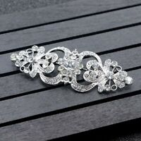 Large Flower Crystal Brooch Pin Bridal Vintage Women Jewelry Wedding Party Alloy