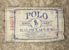 Rare Polo Ralph Lauren Canvas patch