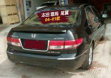 For Honda Accord 2004 2005 ABS Plastic Unpainted Rear Trunk Spoiler Lip Wing