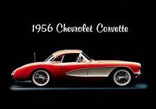 Magnet Automobile Ad Photo Magnet Chevrolet 1956 Corvette Red